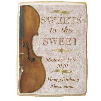 Dulces al dulce, deseos del cumpleaños del violín