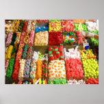 Dulces Barcelona España del caramelo del mercado Poster