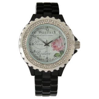Dulces color de rosa menudos reloj