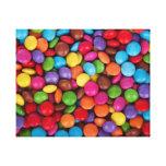 Dulces coloridos del caramelo del arco iris lienzo envuelto para galerias