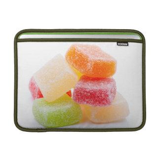 Dulces coloridos del cuadrado de la jalea fundas para macbook air