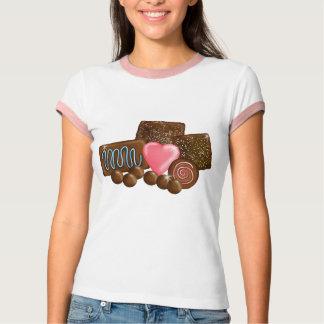 Dulces del caramelo de chocolate camisas