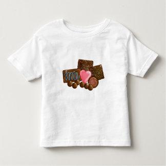 Dulces del caramelo de chocolate playera