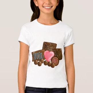 Dulces del caramelo de chocolate poleras