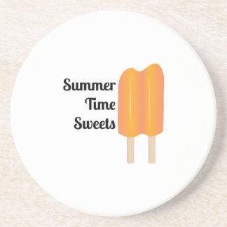 Dulces del tiempo de verano posavasos cerveza