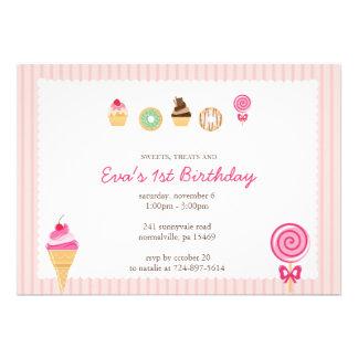 Dulces, invitaciones y primeros cumpleaños anuncios