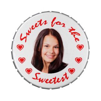 Dulces para la lata más dulce del caramelo de la f latas de caramelos