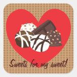 ¡Dulces para mi dulce! Pegatinas Pegatinas Cuadradases