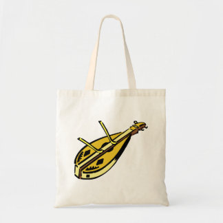Dulcimer and hammers, musical instrument graphic tote bag