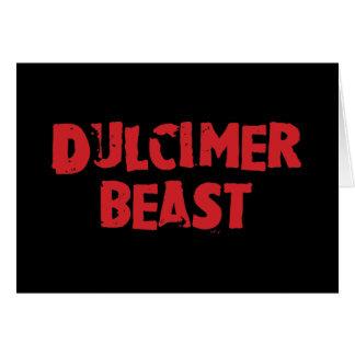 Dulcimer Beast Greeting Card