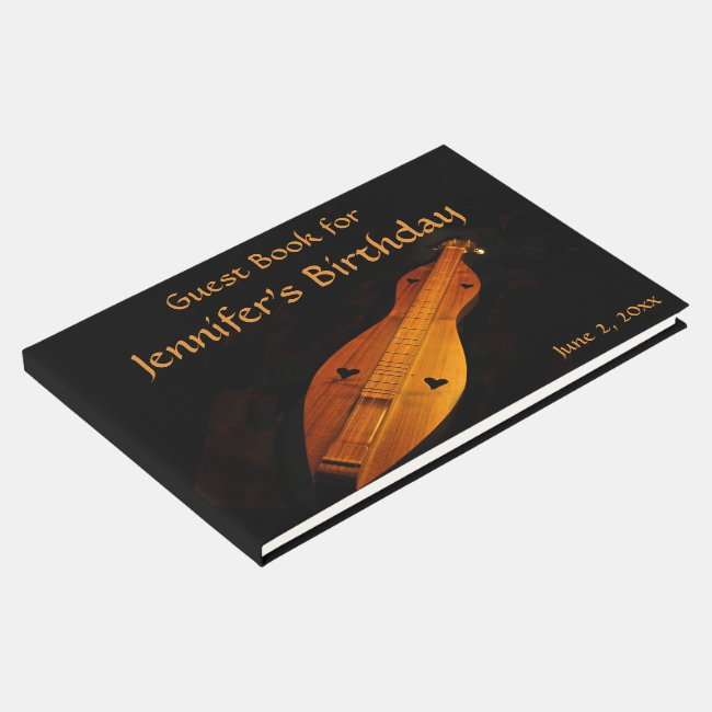 Dulcimer Birthday Party Guest Book