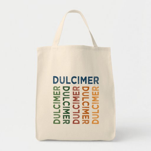 Dulcimer Cute Colorful Grocery Tote Bag
