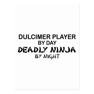 Dulcimer Deadly Ninja by Night Postcard