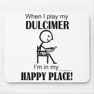Dulcimer Happy Place Mouse Pad