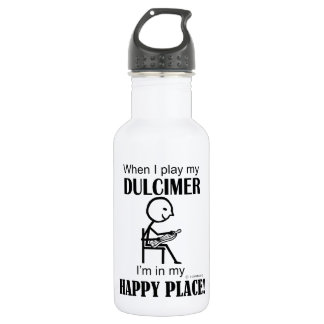 Dulcimer Happy Place Stainless Steel Water Bottle