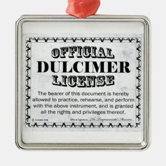 Dulcimer License Metal Ornament