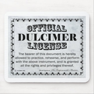 Dulcimer License Mouse Pad