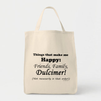 Dulcimer Makes Me Happy Grocery Tote Bag
