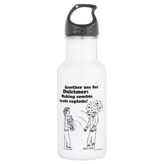 Dulcimer Makes Zombies Explode Water Bottle