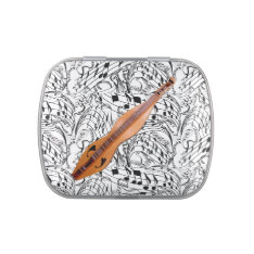 Dulcimer-music Notes-candy Tin Candy Tins at Zazzle