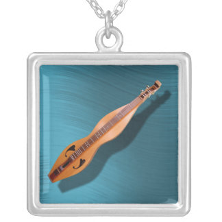 DULCIMER-NECKLACE SILVER PLATED NECKLACE