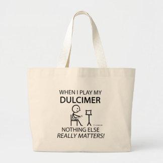 Dulcimer Nothing Else Matters Large Tote Bag