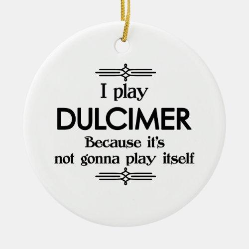 Dulcimer _ Play Itself Funny Deco Music Ceramic Ornament