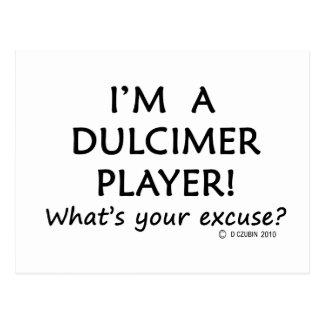 Dulcimer Player Excuse Postcard