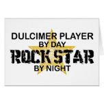 Dulcimer Rock Star by Night Greeting Card