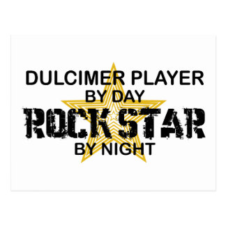 Dulcimer Rock Star by Night Postcard
