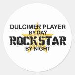 Dulcimer Rock Star by Night Sticker