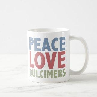 Dulcimers del amor de la paz tazas de café