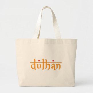 Dulhan Script Large Tote Bag