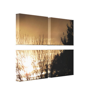 Dull Sunset Canvas Print