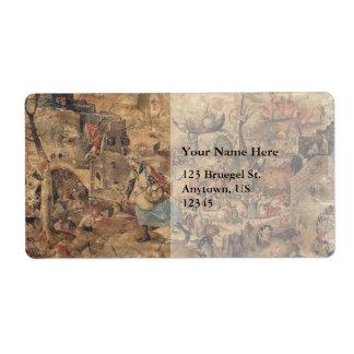 Dulle Griet (Mad Meg) by Pieter Bruegel Label