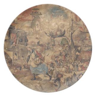 Dulle Griet (Mad Meg) by Pieter Bruegel Melamine Plate