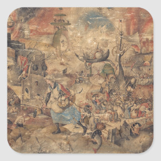 Dulle Griet Mad Meg by Pieter Bruegel Square Stickers