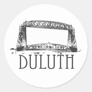 Duluth Aerial Lift Bridge Classic Round Sticker