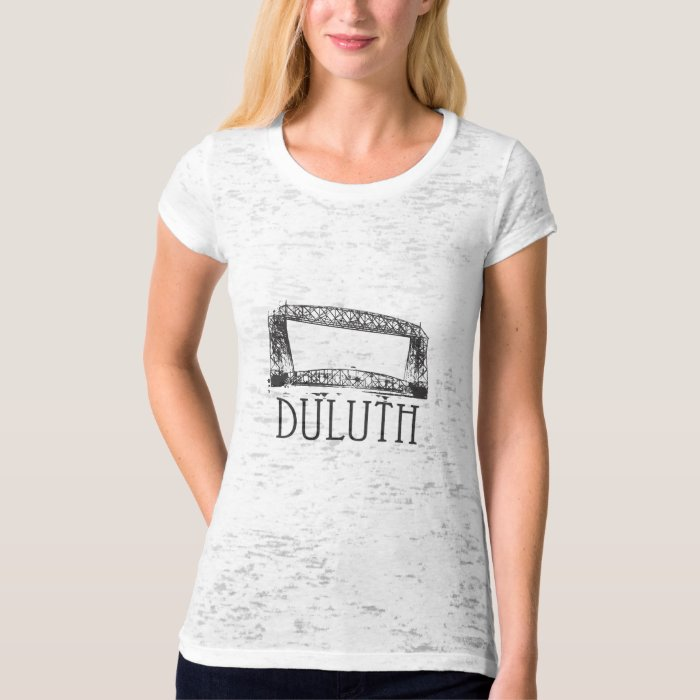 Duluth aerial lift bridge t shirt zazzle for Duluth t shirt commercial