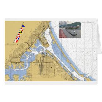 Duluth banderas de señal de la carta del puerto d tarjeton
