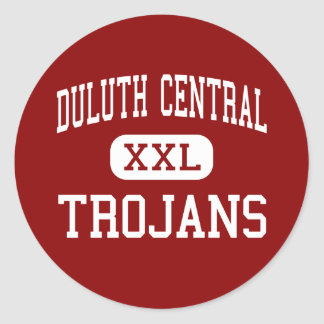 Duluth Central - Trojans - High - Duluth Minnesota Classic Round Sticker