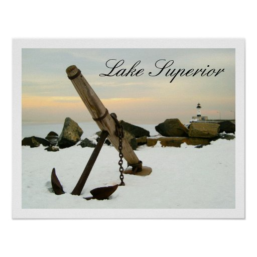 Duluth Harbor Anchor Lake Superior Poster