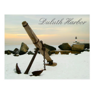 Duluth Harbor in the Winter Postcard