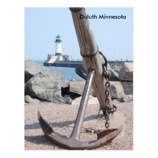 Duluth Lakewalk Anchor, Duluth Minnesota Postcard