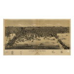 Duluth Minnesota 1887 Antique Panoramic Map Posters