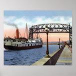 Duluth Minnesota Lift Bridge Great Lakes Poster