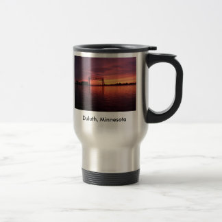 Duluth,Minnesota Sunset 15 Oz Stainless Steel Travel Mug