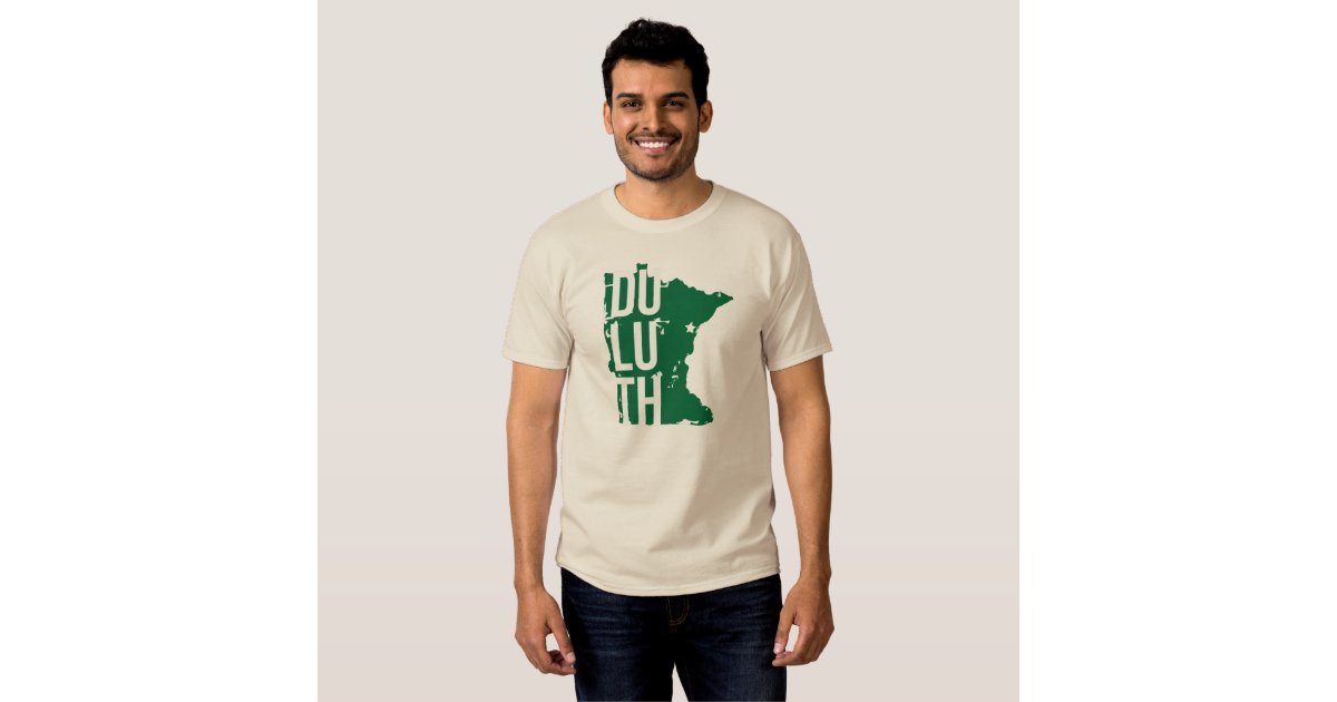 Duluth minnesota t shirt with map zazzle for Duluth t shirt commercial