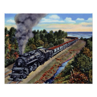 Duluth Minnesota Train with Iron Ore Poster