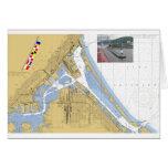Duluth, MN Harbor Chart Signal Flags ship Card